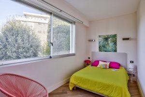 Nice – Coeur Cimiez – Dans résidence luxe magnifique 3 pièces vue mer et jardins