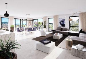 Grand et luxueux 2 pièces avec jardin et terrasse dans une résidence neuve
