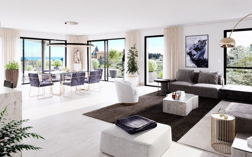 Prestigious 4-room apartment in a new residence in Cimiez : photo 2