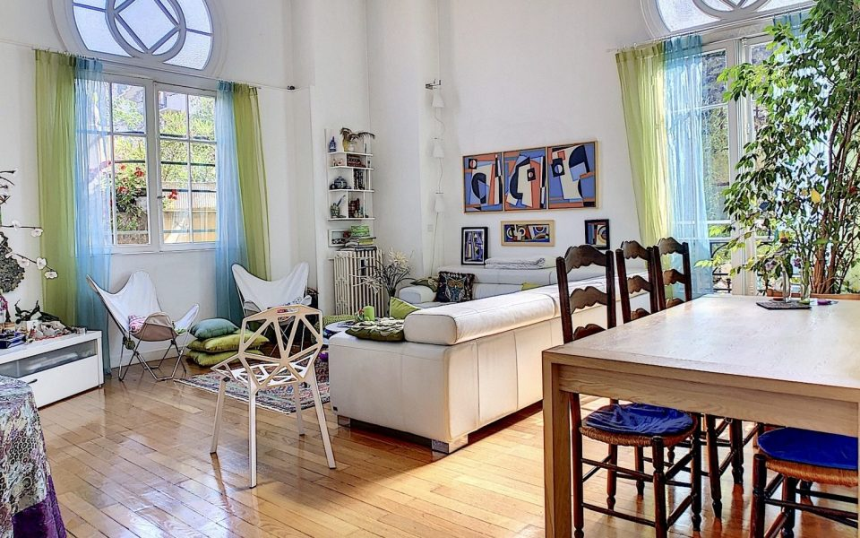 Nice Cimiez – Duplex de charme 135 m2 dans résidence néo mauresque du 19ème siècle : photo 2