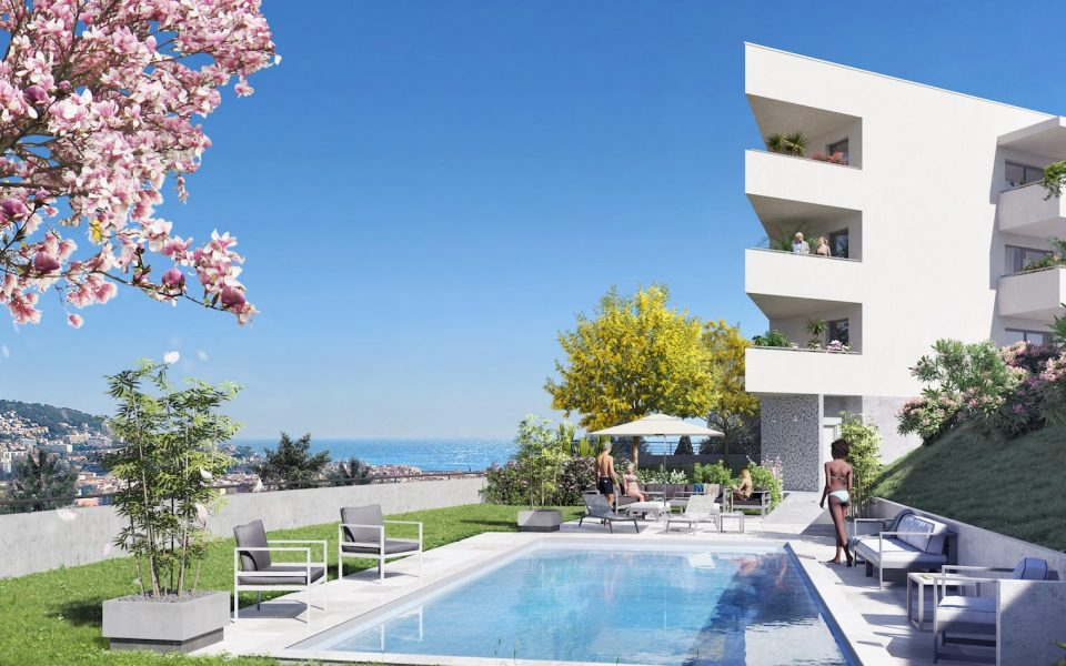 Luxurious new 2 bedrooms top floor apartment with panoramic sea view : photo 2