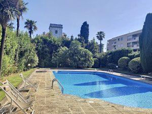 Coeur Cimiez – Due camere a livello di giardino in una residenza di lusso con piscina