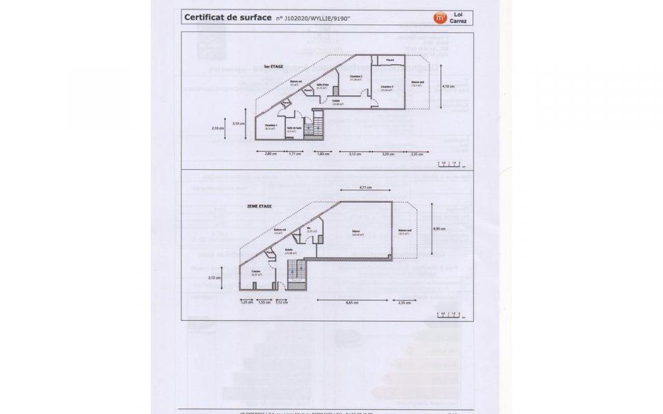 Nice Cimiez – Superbe duplex 4 Pièces 117 m²  dans belle résidence avec piscine : plan