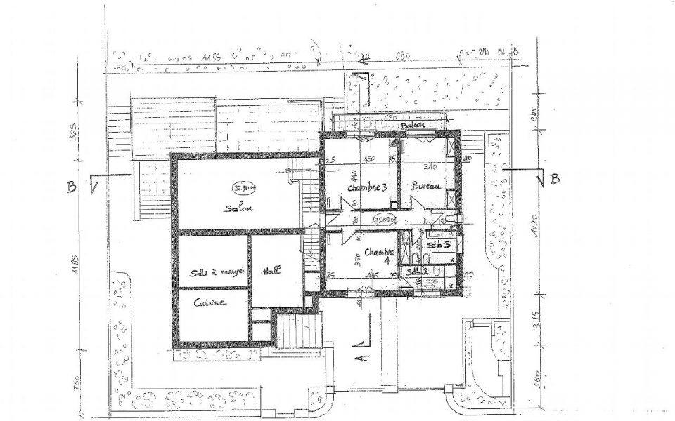 Nizza Bas Fabron – Rara – Superba Bastide da ristrutturare vicino al mare e ai negozi : plan