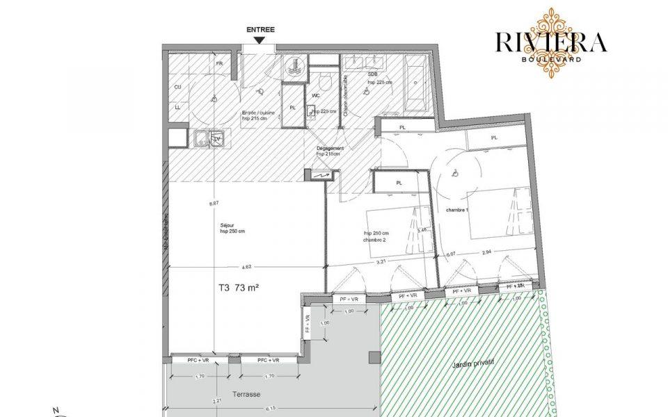 Sublime appartamento alle porte di Monaco di fronte al mare : plan