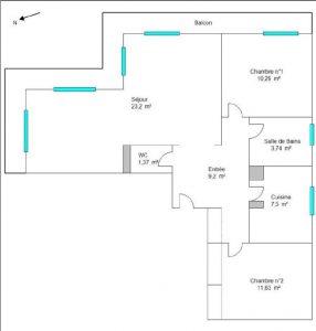 Nice Cimiez – Appartamento 3 stanze 67m2