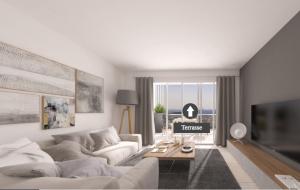 Nice – 2 pièces neuf dans une petite résidence avec vue mer panoramique à Nice